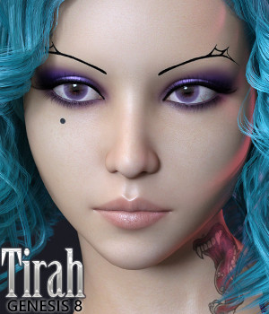 Tirah for Genesis 8 Female 3D Figure Assets Jessaii
