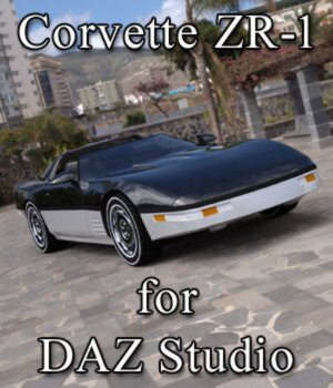 Corvette ZR-1 - for DAZ Studio  3D Models Digimation_ModelBank