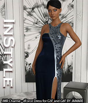 InStyle - JMR Charme - dForce Dress for G3F and G8F 3D Figure Assets -Valkyrie-