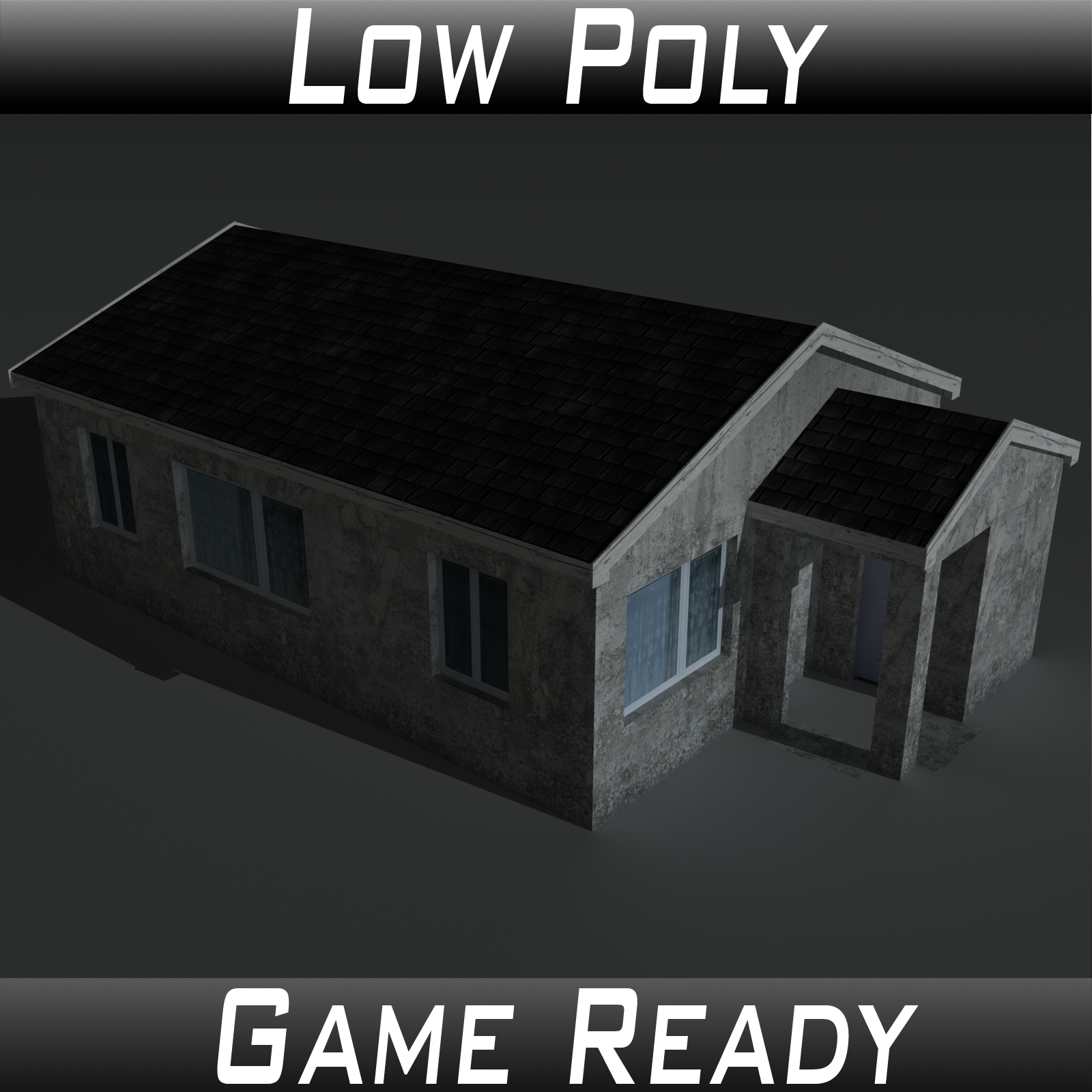 Low Poly House 2 - Extended License