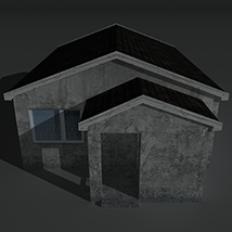 Low Poly House 2 - Extended License image 1