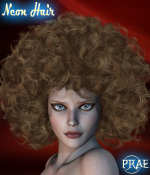 Prae-Neon Hair For V4 M4 Poser 3D Figure Assets prae