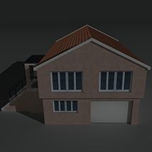Low Poly House 3 - Extended Licence image 1