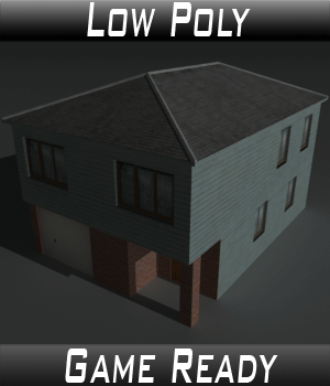 Low Poly House 4 - Extended Licence 3D Game Models : OBJ : FBX 3D Models Extended Licenses 3dlands