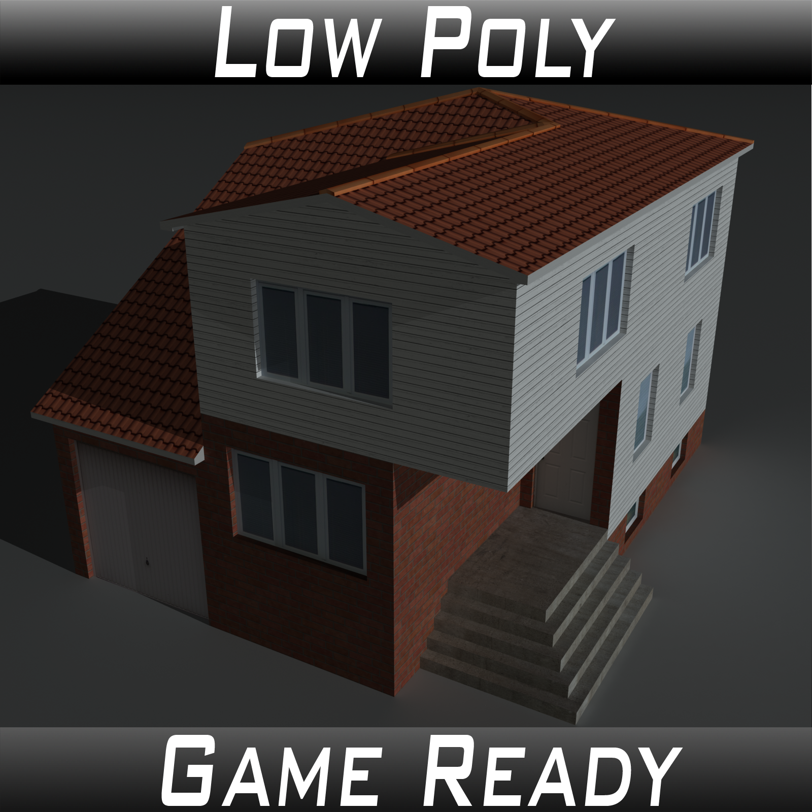 Low Poly House 5 - Extended Licence