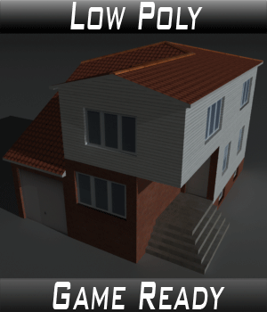Low Poly House 5 - Extended Licence 3D Game Models : OBJ : FBX 3D Models Extended Licenses 3dlands
