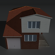 Low Poly House 5 - Extended Licence image 1