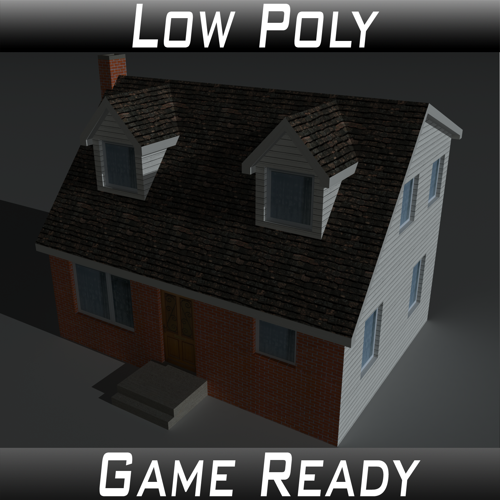 Low Poly House 6 - Extended Licence by 3dlands