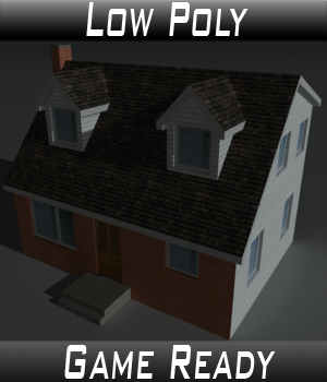 Low Poly House 6 - Extended Licence 3D Game Models : OBJ : FBX 3D Models Extended Licenses 3dlands