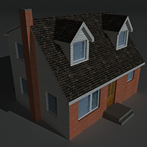 Low Poly House 6 - Extended Licence image 8
