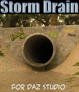 Storm Drain for Daz Studio 3D Models genejoke