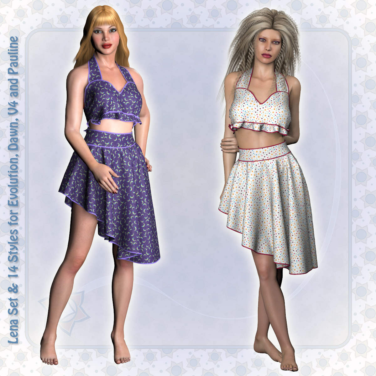 Lena Set and 14 Styles for PE, V4, Dawn and Pauline