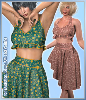 Lena Set and 14 Styles for PE, V4, Dawn and Pauline 3D Figure Assets karanta