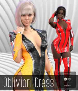 Oblivion Dress 3D Figure Assets Noyrac