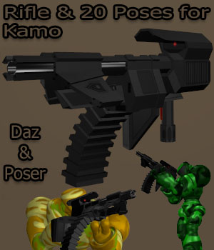 KamoRifle 3D Figure Assets 3D Models Sci-Kwon-Do