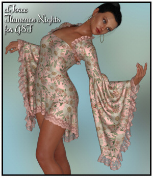 dForce - Flamenco Nights for G8F 3D Figure Assets Lully
