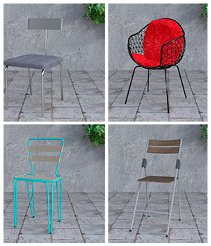 Set of chairs 3D Models avadagra