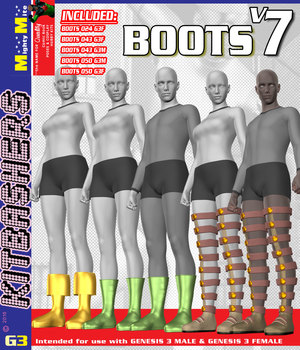 Boots v007 MMKBG3 3D Figure Assets MightyMite