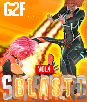 SuperHero Blast for G2F Volume 4 3D Figure Assets GriffinFX