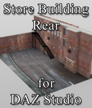 Store Building Rear - for DAZ Studio  3D Models VanishingPoint