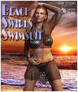 dForce Beach Swirls for Genesis 8 and 3 Females 3D Figure Assets SWTrium