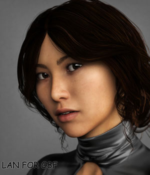 Lan for Genesis 8 Female 3D Figure Assets banhsua
