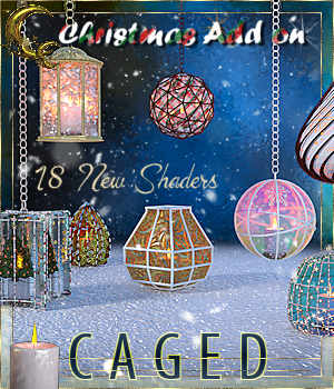 Caged Lanterns - Christmas Add on for DAZ 3D Models Cyriona