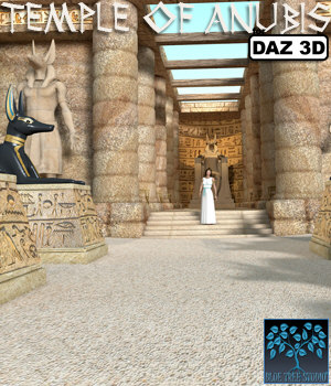 Temple of Anubis for Daz Studio 3D Models BlueTreeStudio