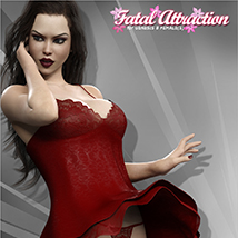Fatal Attraction Outfit Set for Genesis 8 Females image 1