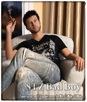 STZ Bad Boy 3D Figure Assets santuziy78