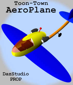 Toon-Town AeroPlane for Daz Studio 3D Models Winterbrose