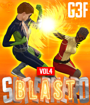 SuperHero Blast for G3F Volume 4 3D Figure Assets GriffinFX