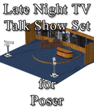 Late Night TV Show Set - for Poser  3D Models VanishingPoint