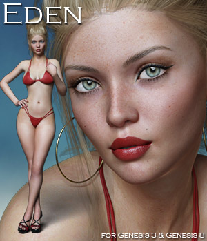 Eden for the G3 and G8 Females 3D Figure Assets Rhiannon