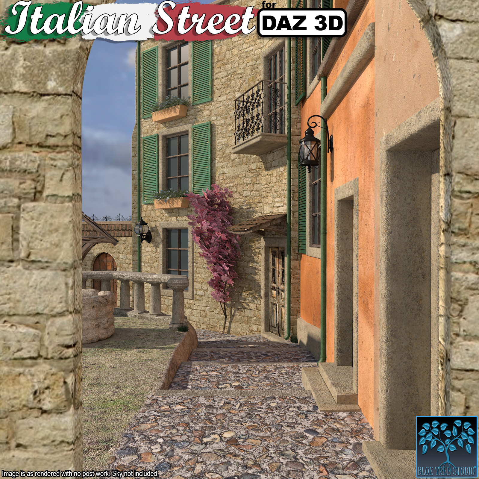 Italian Street for Daz Studio by BlueTreeStudio