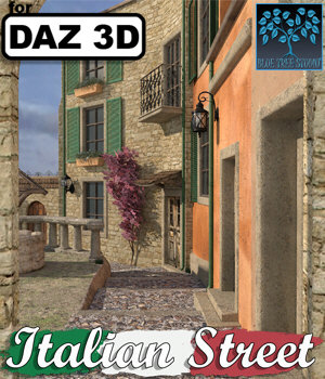 Italian Street for Daz Studio 3D Models BlueTreeStudio