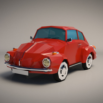 Low-Poly Cartoon City Car - Extended License image 1
