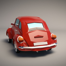 Low-Poly Cartoon City Car - Extended License image 2