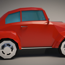 Low-Poly Cartoon City Car - Extended License image 6