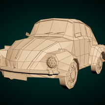 Low-Poly Cartoon City Car - Extended License image 7