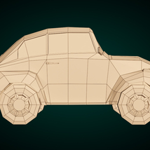 Low-Poly Cartoon City Car - Extended License image 9