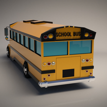 Low-Poly Cartoon School Bus - Extended License image 2