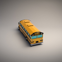 Low-Poly Cartoon School Bus - Extended License image 3