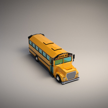 Low-Poly Cartoon School Bus - Extended License image 4