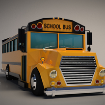 Low-Poly Cartoon School Bus - Extended License image 5