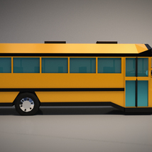 Low-Poly Cartoon School Bus - Extended License image 6