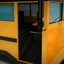 Low-Poly Cartoon School Bus - Extended License image 7