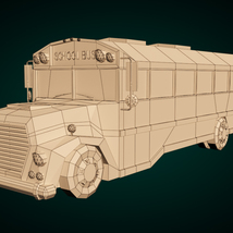 Low-Poly Cartoon School Bus - Extended License image 8