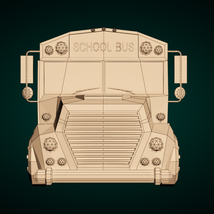 Low-Poly Cartoon School Bus - Extended License image 9