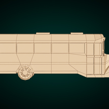 Low-Poly Cartoon School Bus - Extended License image 10